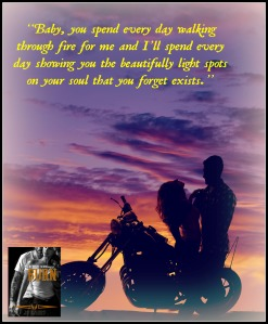 A silhouette of a woman sitting on a motorbike leaning back while her man holds her.