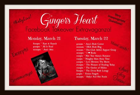 ginger heart takeover schedule